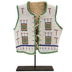Native American Beaded Vest, Sioux, 19th Century