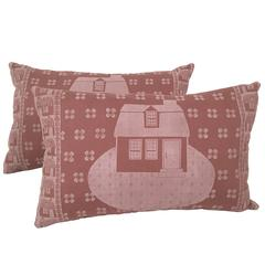 Story and a Half Hand Block Printed Folly Cove Designers Pillows, circa 1958