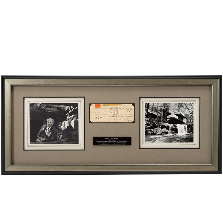 Frank Lloyd Wright Signed Check, circa 1947