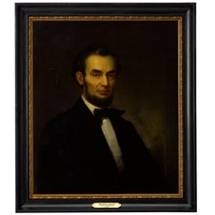 Abraham Lincoln Antique Portrait, Oil on Canvas, circa 1870