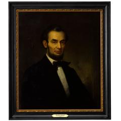 Abraham Lincoln Original Oil Portrait on Canvas, circa 1870