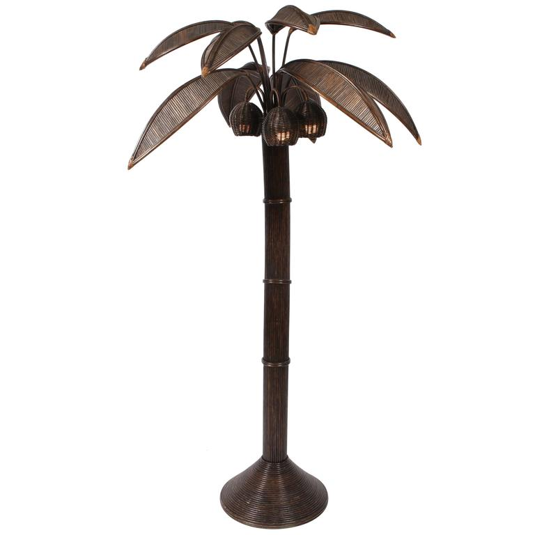 mario lopez palm tree floor lamp for sale at 1stdibs. Black Bedroom Furniture Sets. Home Design Ideas