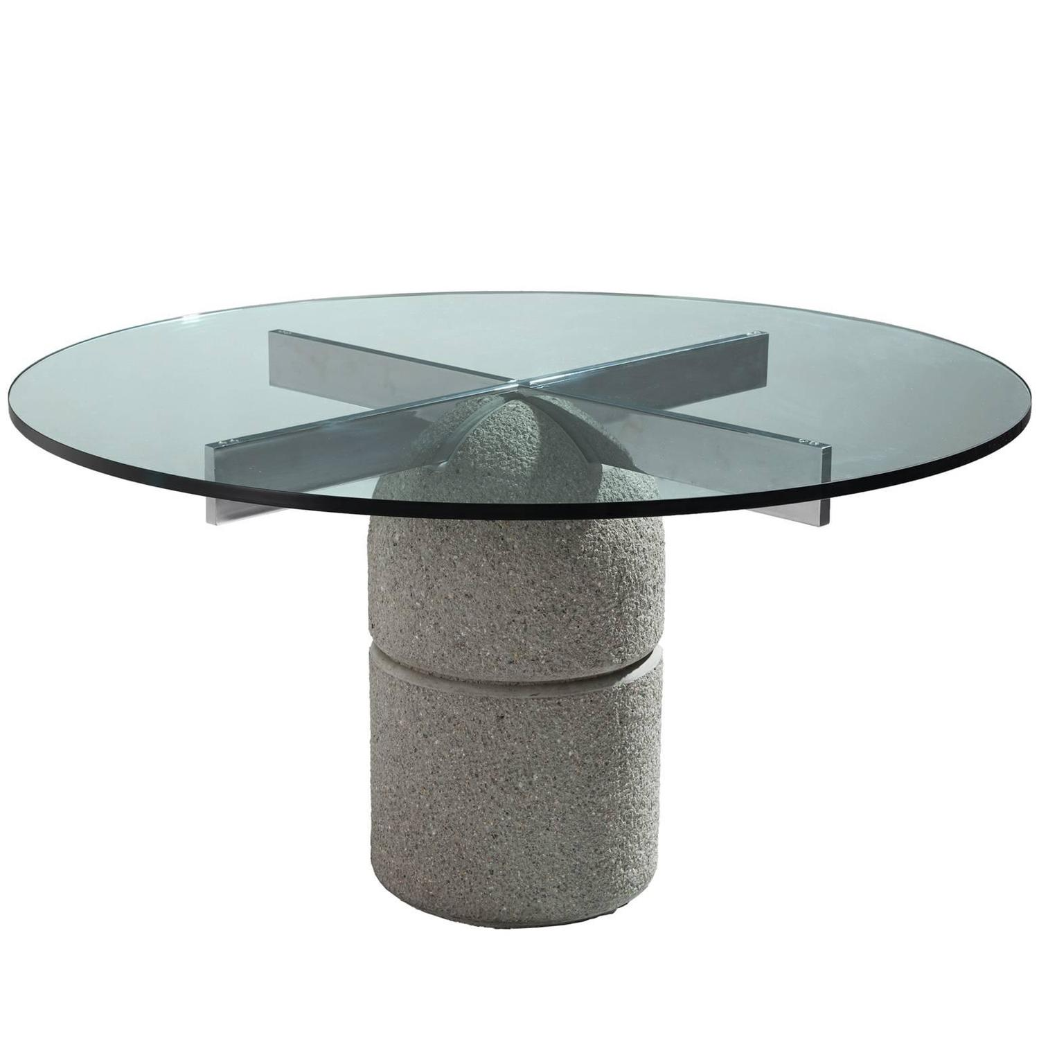 Giovanni fredi Round Paracarro Dining Table for Saporiti at