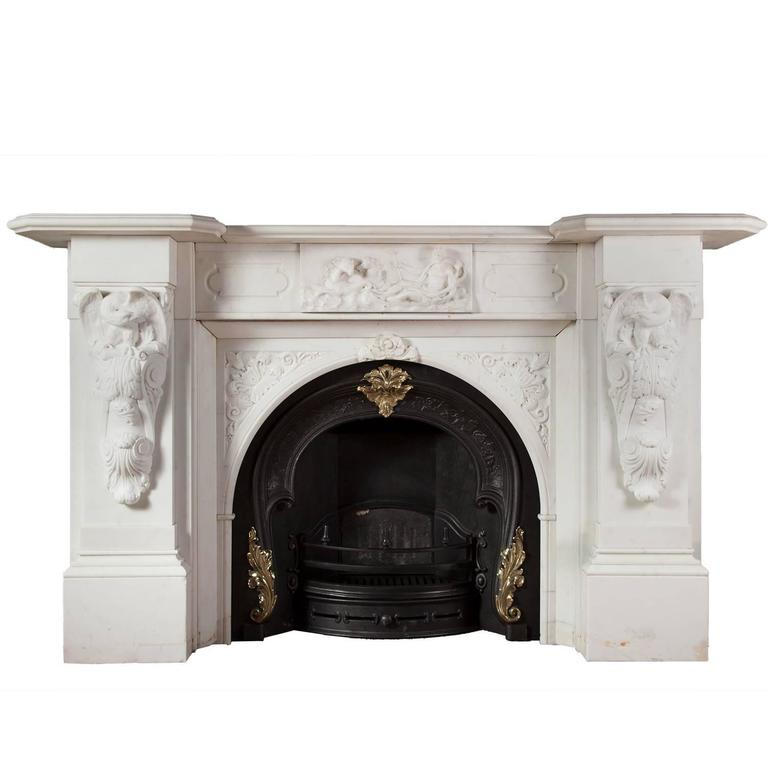 Antique Irish Marble Fireplace For Sale