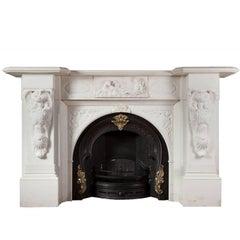 Antique Irish Marble Fireplace