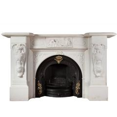 Antique Irish Marble Fireplace