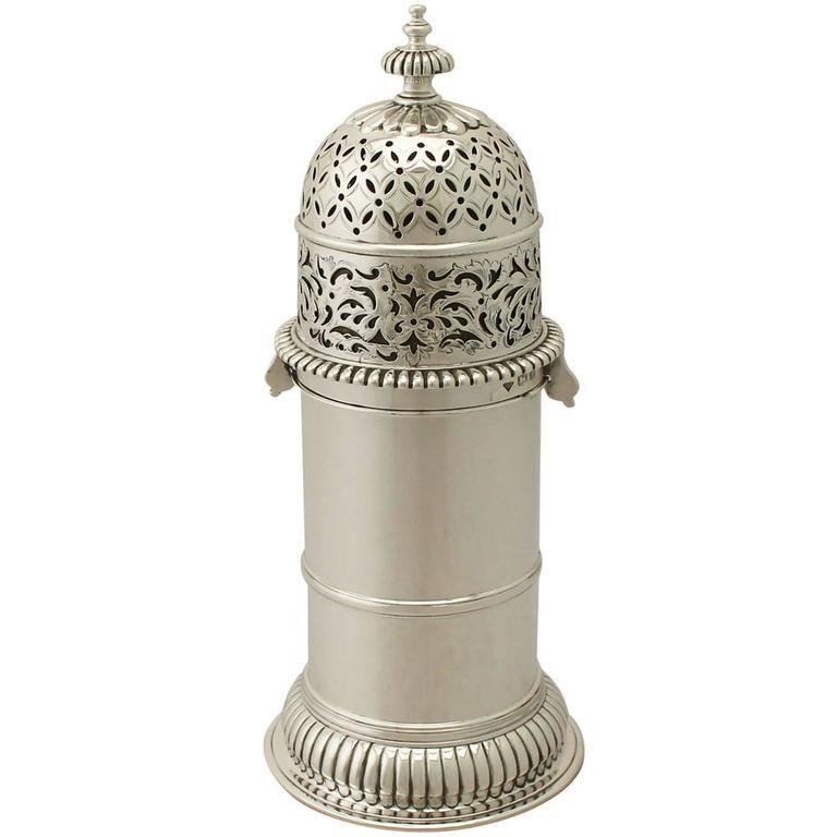 Antique George V Sterling Silver Lighthouse Style Sugar Caster