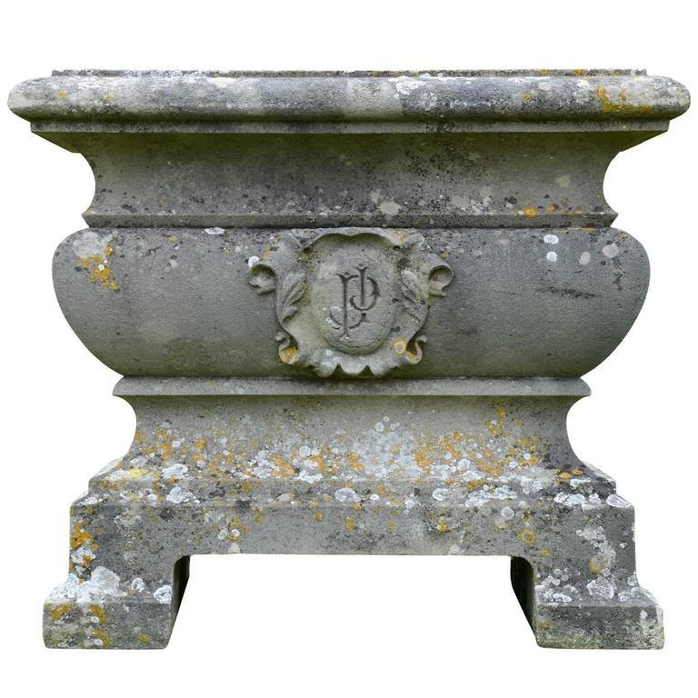 French Napoleon III Stone Tub, 19th Century
