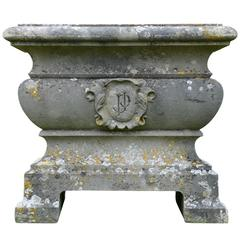 French Napoleon III Stone Tub, 19th Century