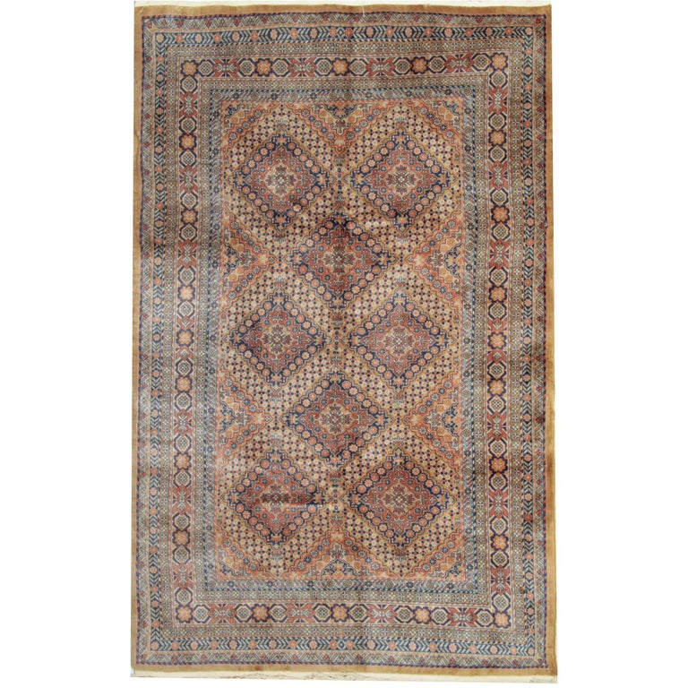 Persian Style Rugs with Traditional Design, Brown Rug Antique Carpet from India  For Sale