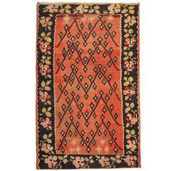 Antique flat weave rug, Caucasian Kilim Rugs from Karabagh
