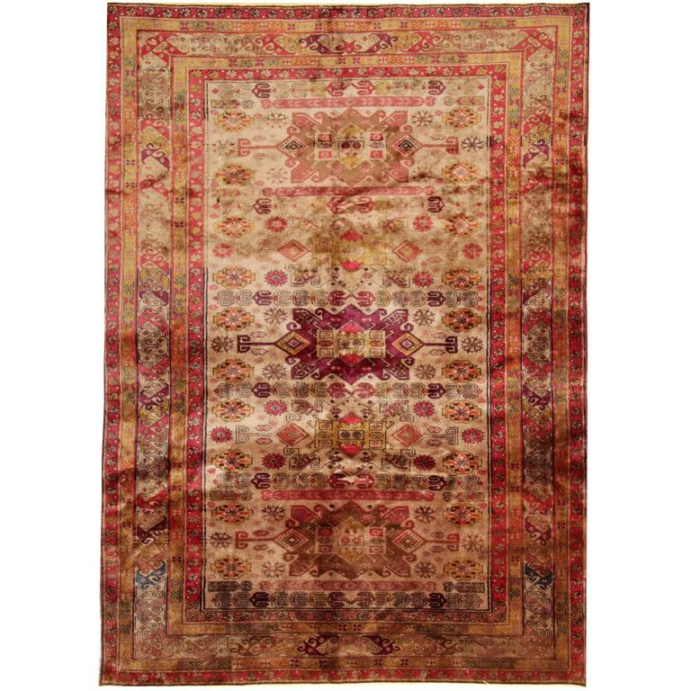 Antique Persian Rugs, Caucasian Carpet from Karabagh