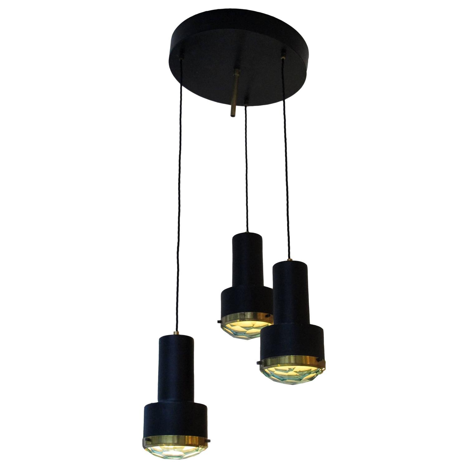 Three Light Pendant Chandelier By Stilnovo For Sale At 1stdibs