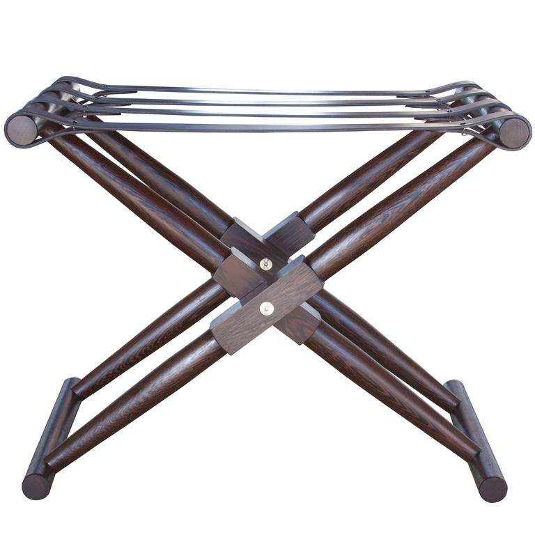 Matthiessen Folding Luggage Rack For Sale At 1stdibs - One-hundred-triangles-stool