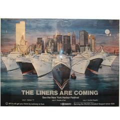 """The Liners Are Coming"" Vintage Poster by Letizia Pitigliani"