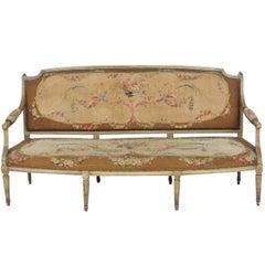 Antique Louis XVI Style Aubusson Sofa
