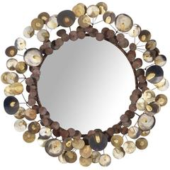 """Vintage """"Raindrops"""" Wall Mirror by Curtis Jere"""
