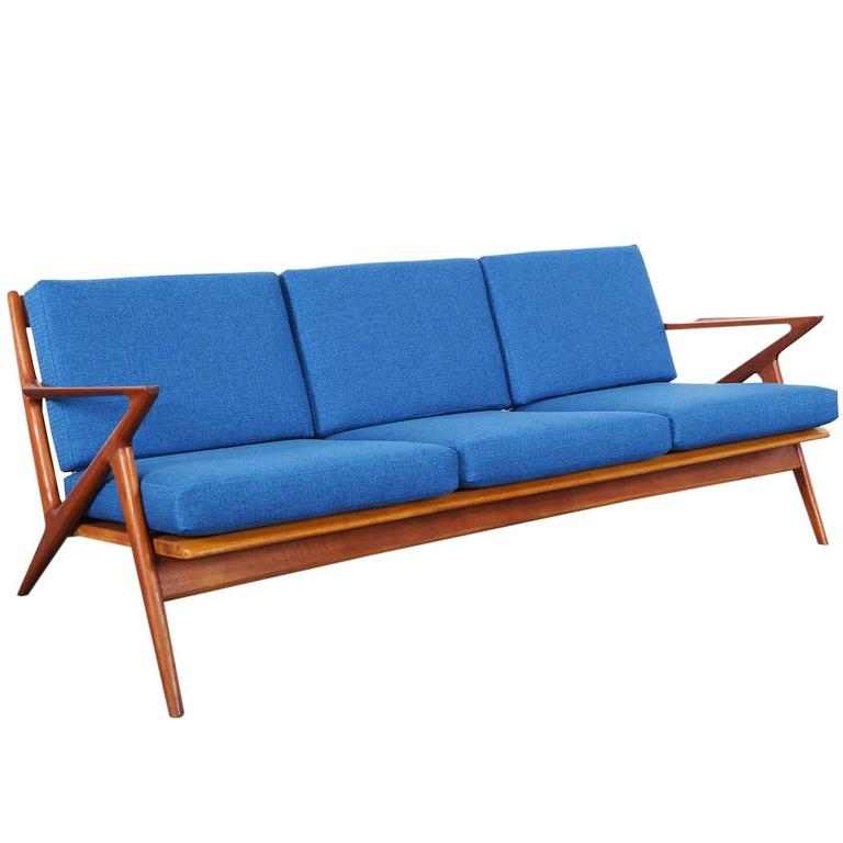 Danish Modern Teak Z Sofa By Poul Jensen At 1stdibs