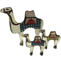 Trio of Acrylic Camels by Abraham Palatnik
