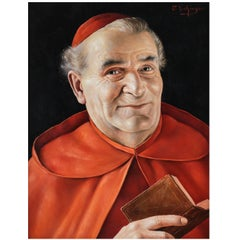 Oil Portrait Painting of a Cardinal by Otto Eichinger