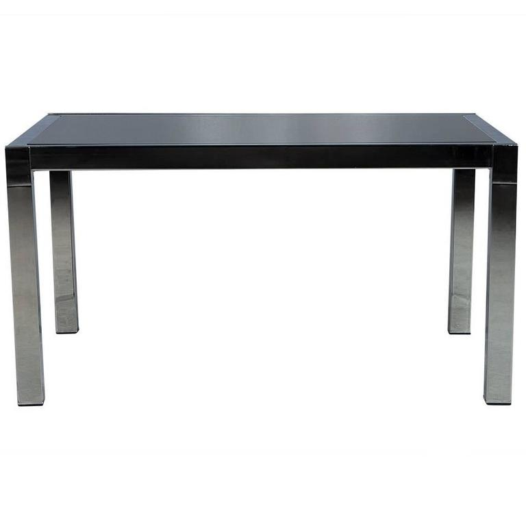 Smoked Glass and Chrome Extendable Dining Table For Sale  : DS5015003orgl from www.1stdibs.com size 768 x 768 jpeg 15kB