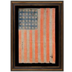 36 Star Antique American Parade Flag of the Civil War Era