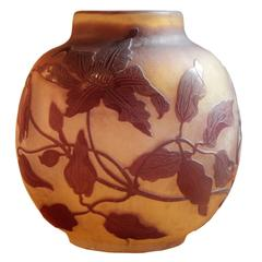 Small French Art Nouveau Period Cameo Vase by Galle