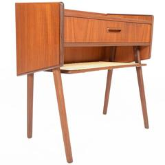 Danish Modern V-Legged Teak Entry Chest
