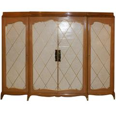 Andrè Arbus, 1940s Wardrobe in Cherrywood and Eggshell, France