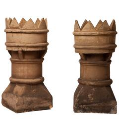 Pair of Antique English Chimney Pots