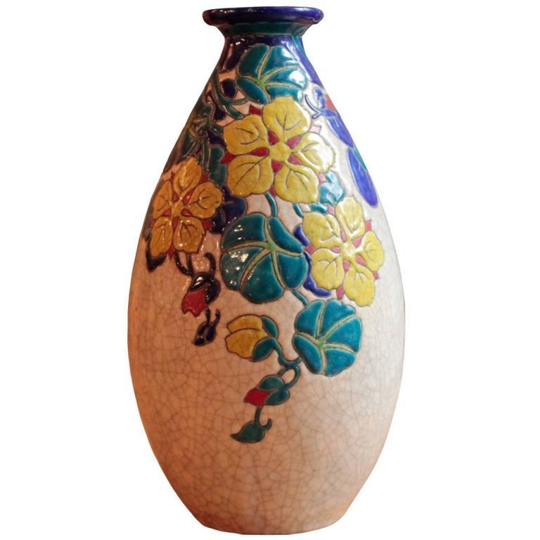 Belgian Art Deco Period Vase by Boch Freres Keramis