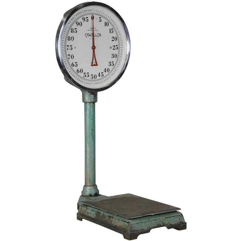 1930 Chatillon Lollipop 100 lb Industrial Floor Scale