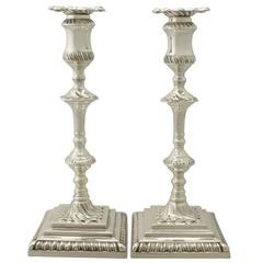 1910s George V, George II Style Sterling Silver Candlesticks