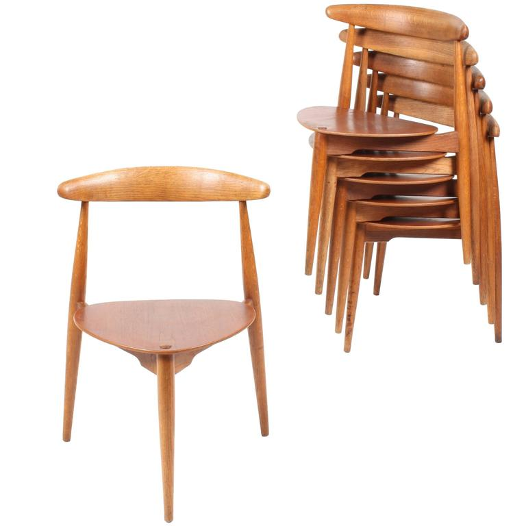Set of Six Side Chairs by Wegner