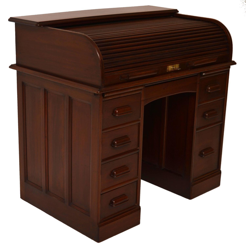 - Antique Mahogany Roll Top Desk At 1stdibs