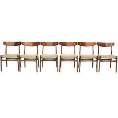 Set of Hans Wegner CH23 Chairs