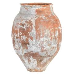 Large 19th Century Terra Cotta Pot with Tapered Base from France