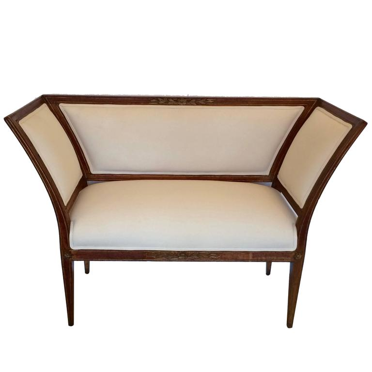Ultra Chic French Directoire Settee Loveseat Bench