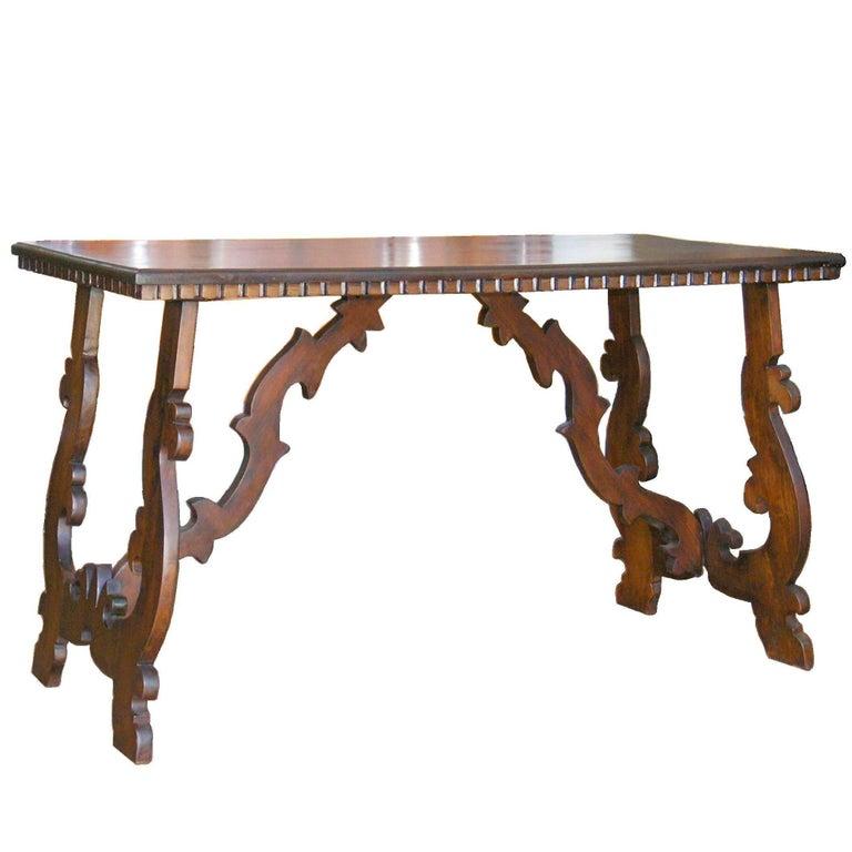 19th Century Florentine Trestle Table