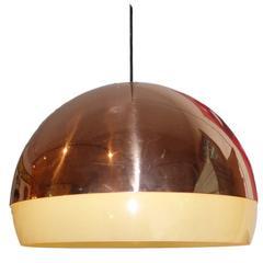 Copper Sphere Pendant Light