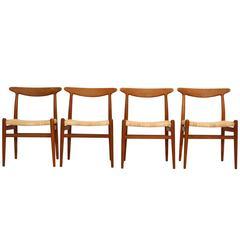 Hans Wegner, Set of Four Chairs, Model W2