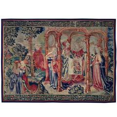 Tapestry of Brussels, 16th Century, Justice and the Seven Virtues, Very Rare