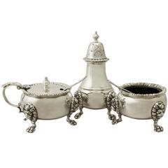 Vintage Sterling Silver Condiment Set, Elizabeth II