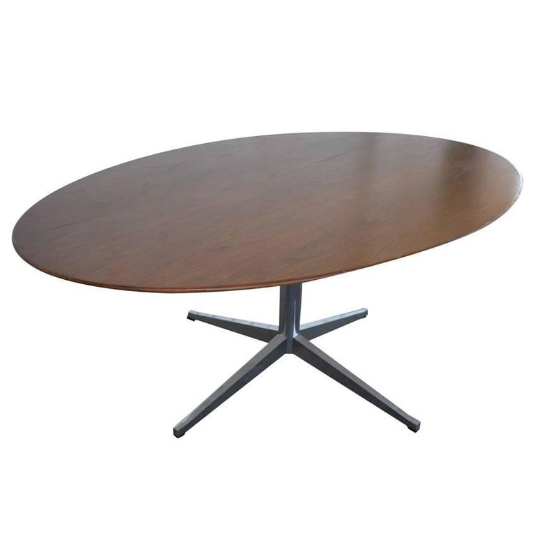 florence knoll dark walnut conference dining table for sale at 1stdibs