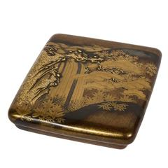 Edo Japanese Lacquered Suzuribako 'Writing Box'