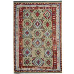 Persian Style Rugs with Traditional Design, Kilim Rugs from Afghanistan