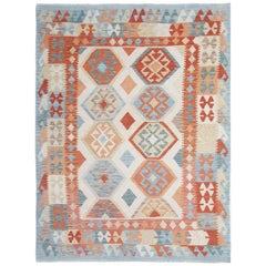 Oriental Rug Handmade Kilim Rugs, Carpet from Afghanistan