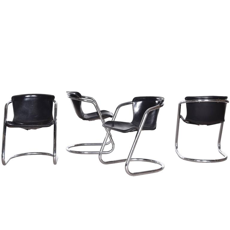 Willy Rizzo Dining Chairs for Cidue, Italy