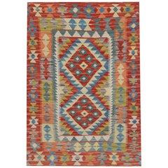 Floor Door Mat, Kilim Rugs, Traditional Rugs, Colorful Carpet