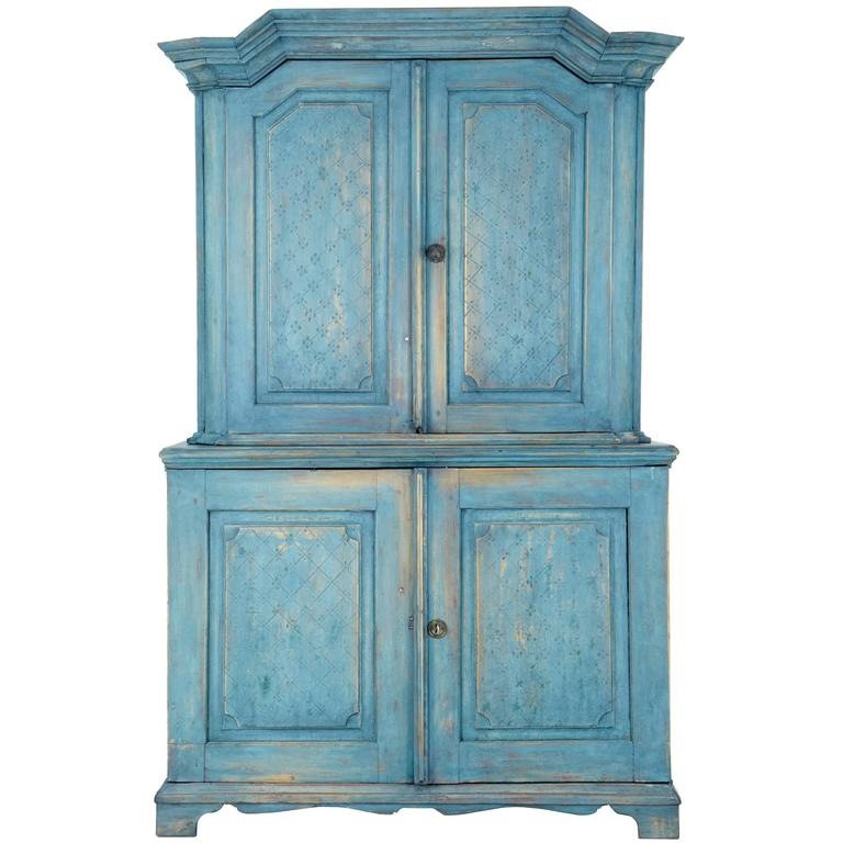 19th century swedish painted kitchen cabinet cupboard at for 19th century kitchen cabinets